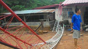 พายุพัดถล่มบ้านเรือนปชช. ใน จ.ชัยภูมิ พังกว่า 100 หลังคา