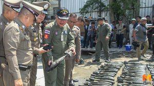 'ศรีวราห์' ตรวจจุดพบระเบิด EOD ยันระเบิดใช้งานไม่ได้แล้ว