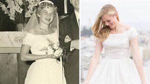 คลาสสิคไปอี๊ก! หลานสาวปิ๊งไอเดียใส่ ชุดแต่งงานคุณยาย ยุคสมัยสงครามโลก