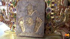 พบรอยมือรอยเท้า 'ครูบาเจ้าศรีวิชัย' อายุเกือบ 100 ปี