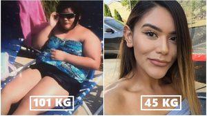 วะวะว้าวว! สาวอ้วน ลดน้ำหนัก จาก 101 เหลือ 45 กก. ใน 2 ปี สวยเฟิร์มจนอ้าปากค้าง