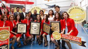 แอร์เอเชีย คว้ารางวัลสายการบินประหยัด ดีสุดในโลก 7 ปีซ้อน