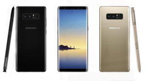เผยภาพเรนเดอร์ล่าสุด Galaxy Note 8 สีดำ Black night และ สีทอง Gold