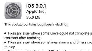 อัพเดต iOS 9.0.1 มาแล้ว ใครเจอบั๊ก อัพเดตด่วนๆ