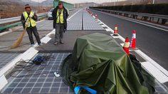 แผงโซล่าเซลล์ลบนถนนพลังงานแสงอาทิตย์ในประเทศจีนถูก ขโมย หลังเปิดใช้งานเพียง 5 วัน!!