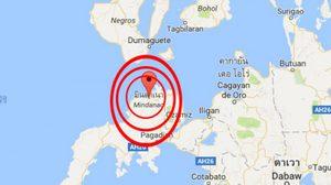 แผ่นดินไหวกลางเกาะมินดาเนา ประเทศฟิลิปปินส์ แรงสั่นสะเทือน 5.6-6.0