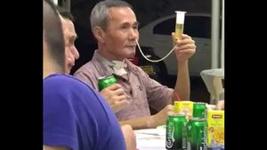 ใจใครใจมัน! ลุงรักเมา เทเบียร์เข้าทางจมูก หลังผ่าตัดคอดื่มไม่ได้