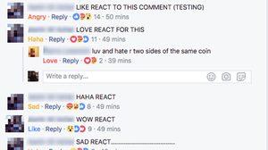 Facebook เพิ่มปุ่ม Reactions แสดงความรู้สึกลงในคอมเมนท์ใต้โพสต์ได้แล้ว
