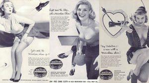 โฆษณายาขัดรองเท้า ยุค 50 สุดแจ่ม กับนางแบบ Pin-Up ที่ไม่ได้เข้ากับผลิตภัณฑ์เลย