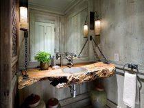 เพิ่มความงามอย่างเป็นธรรมชาติให้ห้องน้ำด้วย เคาน์เตอร์ท๊อปไม้