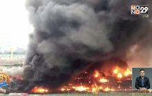 ไฟไหม้สถานที่ก่อสร้างในเมืองเฉิงตูของจีน