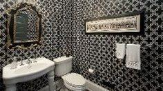 รวมไอเดียแต่ง ห้องน้ำสีขาวดำ