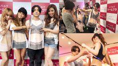 กรี๊ดกันลั่น!! สาว ญี่ปุ่น นับพันคนต่อคิวกันให้ดาราหนุ่มหล่อวัดไซส์ขนาดหน้าอก