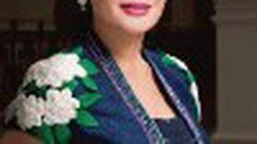 ภาพแฟชั่น ท่านผู้หญิง ศรีรัศมิ์ สุวะดี ในชุดผ้าไทย