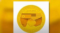 เปิดตัวเหรียญที่ระลึก ประชุมผู้นำสหรัฐฯ-เกาหลีเหนือ
