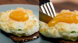 เบื่อไข่ดาวแบบเดิมๆ มาทำ ไข่ดาวอวกาศ ที่ฟูฟ่องกันเถอะ