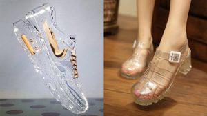 ฝนตกก็ไม่กลัว!! แฟชั่นรองเท้าแบบใส ลุยน้ำ ลุยฝน แบบชิคๆ