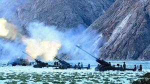 สงครามจีน-อินเดีย, ปืนใหญ่, กองทัพจีน, กองทัพอินเดีย,
