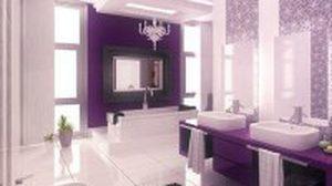 ไอเดียตกแต่งห้องน้ำ โทนสีม่วง สวยแปลกและดูลึกลับ