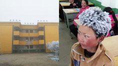 เด็กจีน ฝ่าลมหนาว – 9 องศา เดินทางไปโรงเรียน จนหิมะเกาะหัวขาวโพลน