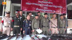ตำรวจจับกุมกวาดล้างอาชญากรรม ช่วงก่อนสงกรานต์ ยึดของกลาง ปืน-ยาเสพติดอื้อ