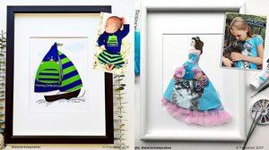 คุณแม่สุดครีเอท!! สร้างผลงานเลอค่า ด้วยเสื้อผ้าวัยเด็กของลูกๆ ระลึกวันวานแห่งความรัก