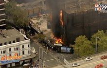 ไฟไหม้อาคารก่อสร้างในออสเตรเลีย