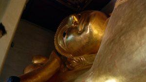 สักการะ พระนอน วัดพระพุทธไสยาสน์ เพชรบุรี