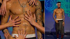 สาวๆ ฟินเว่อร์! ลูบไล้กล้ามอก Justin Bieber กันหนำใจ!