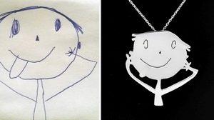ชิ้นเดียวในโลก! เมื่อคุณแม่นำภาพวาดฝีมือลูกมาทำจี้สร้อยคอ