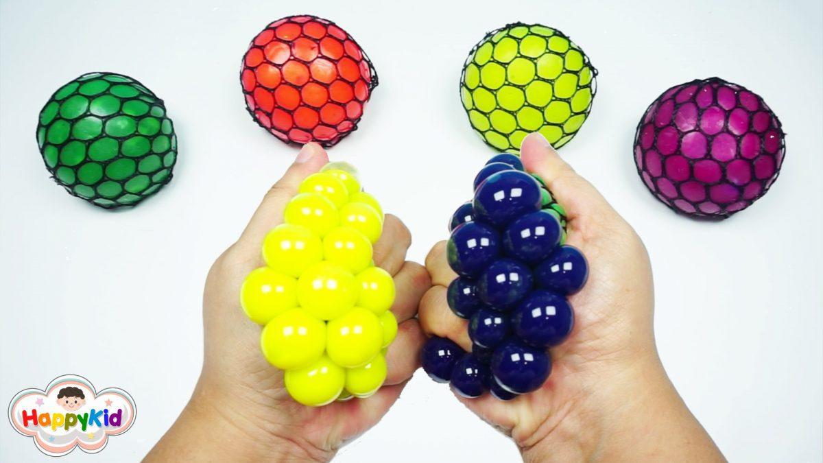 สไลม์บอลบีบแล้วเปลี่ยนสี | Learn Color With Balloons Slime Squishy Stress Ball