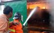 ไฟไหม้โกดังสินค้าโรงงานรีไซเคิลพลาสติก