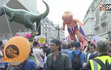 ผู้ชุมนุมในอังกฤษกว่า 50,000 คนประท้วงผู้นำสหรัฐฯ