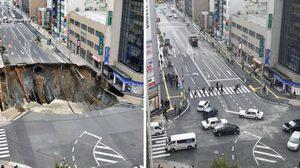 ประกาศปิดถนนเมืองฟุกุโอกะอีกครั้ง เจอสัญญาณหลุมยุบอีกระลอก