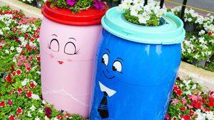 D.I.Y. ถังขยะ ในสวน ให้สวยมุ้งมิ้ง