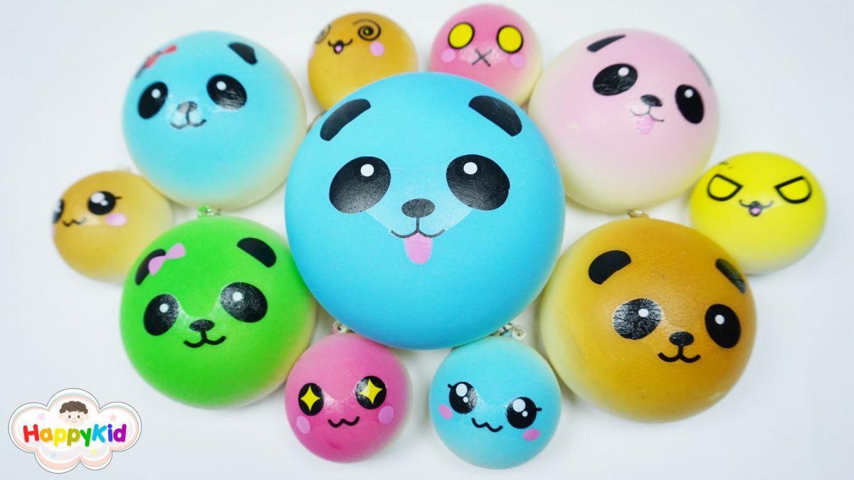 สกุ๊ชชี่แพนด้าบัน | เรียนรู้สีกับสกุ๊ชชี่ | Learn Color With Candy Colors Panda Bun Squishy