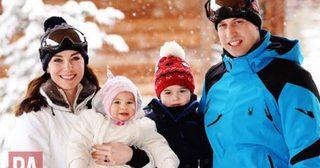 ครอบครัวแห่งราชวงศ์อังกฤษเสด็จฯพักผ่อนวันหยุด