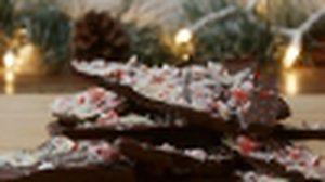 ช็อกโกแลต peppermint แฟนซี ต้อนรับวันคริสต์มาส