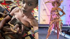 สุดครีเอท! นางงามแทนซาเนีย ตัดเย็บชุดประจำชาติ ลงประกวด Miss Universe เอง