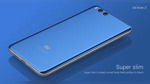 Xiaomi เปิดตัว Mi note 3 จอใหญ่ ดีไซน์หรู มาพร้อมแรม 6 GB และกล้องหลังคู่ขั้นเทพ!!