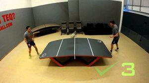 TEQBALL กีฬาชนิดใหม่ที่มีทักษะฟุตบอลและปิงปองก็เล่นได้