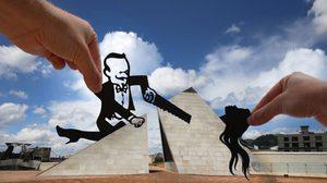 ไอเดียถ่ายรูป!! เปลี่ยนแลนด์มาร์กทั่วโลกให้ดูสนุก ด้วยเปเปอร์คัต