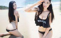 Ashely Li Li สาวจีน เผยหุ่นขาวใสชวนเคลิ้ม