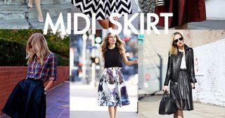 คู่มือจัดลุคสวยเก๋ในสไตล์ Midi Skirt