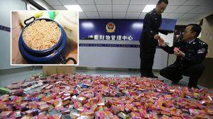 ตำรวจจีนบุกทลายโรงงาน ถุงยางอนามัย ปลอม พบของกลางกว่า 1.7 ล้านชิ้น