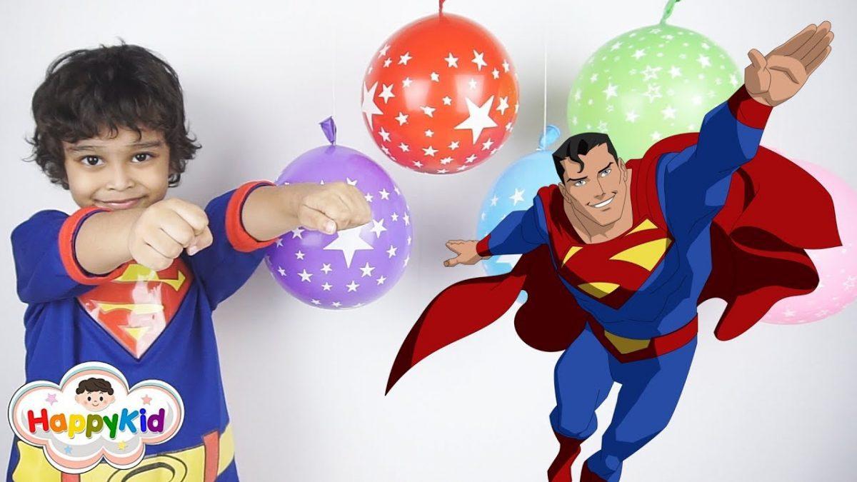 เพลง Finger Family #11 | เจาะลูกโป่งดาวกับซุปเปอร์แมน | เรียนรู้สี | Learn Color With Superman
