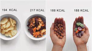 แน่ใจหรอ? กินอาหารเหล่านี้แล้ว ไม่อ้วน มาเปรียบเทียบแคลอรี่กันชัดๆ!!