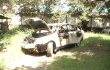 ไฟไหม้รถในสถานีตำรวจภูธรแม่สอด จ.ตาก