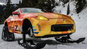 Nissan 370 Zki ล้อหลังตีนตะขาบตะลุยพื้นหิมะ