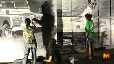 ครอบครัวจิตรกรอาสา วาดภาพพระบรมสาทิสลักษณ์ ในหลวง ร.9 บนผนังบ้าน